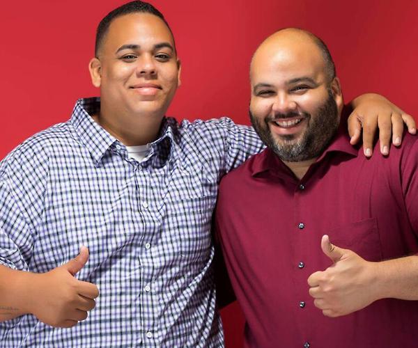 Joshua Mikasobe (izquierda) y Ramón Borges (derecha)